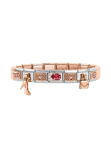 Nomination - Classic Couture & Charms Rose Gold and Stainless Steel Bracelet w/Cubic Zirconia