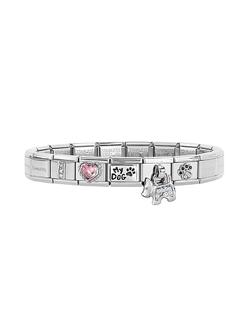 Classic I Love My Dog Stainless Steel Bracelet w/Charm