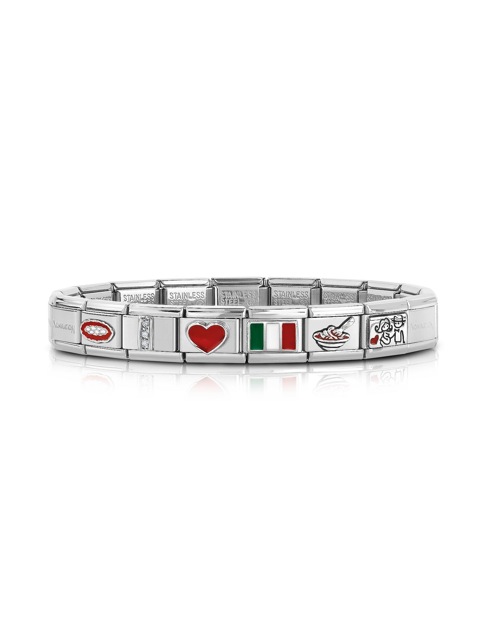 Classic That's Italy - Браслет из Стерлигового Серебра и Нержавеющей Стали