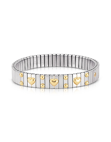 Nomination - Amore Stainless Steel w/Golden Heatrs Women's Bracelet