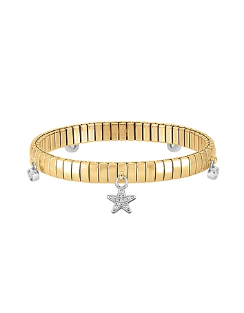 Nomination - Gold PVD Stainless Steel Women's Bracelet w/Stearling Silver Star and Cubic Zirconia