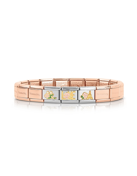 Nomination La Vie en Rose Gold PVD Stainless Steel Bracelet