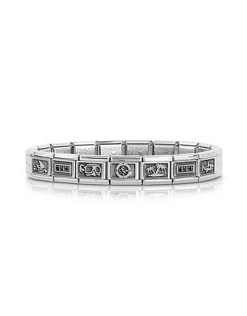 Nomination - Summer Sports Stainless Steel Men's Bracelet w/Stearling Silver Symbols