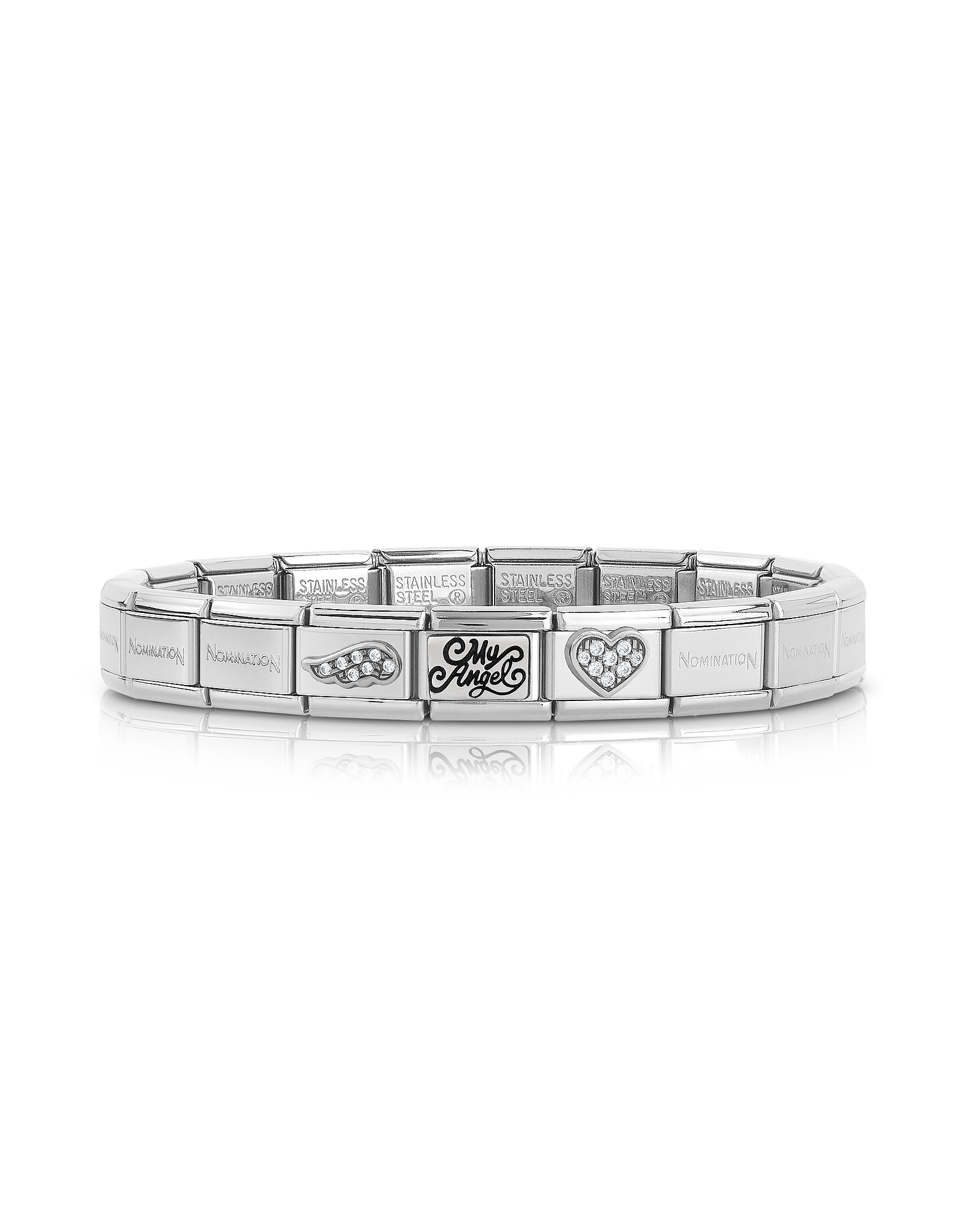 Nomination Bracelets, Classic My Angel Stainless Steel Women's Bracelet w/Cubic Zirconia