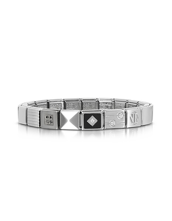 Nomination - Steel Ikons Pyramid Stainless Steel Bracelet w/Cubic Zirconia