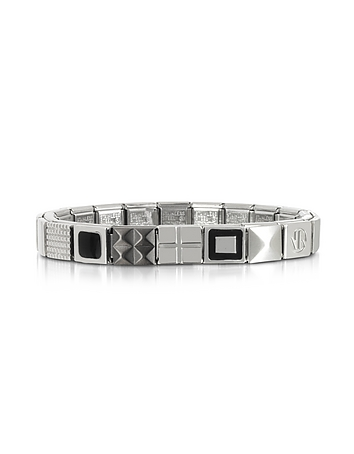 Nomination - Steel Ikons Black Enamel and Brushed Stainless Steel Bracelet