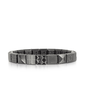 Nomination - Steel Ikons Pyramid and Mesh Brushed Stainless Steel Bracelet