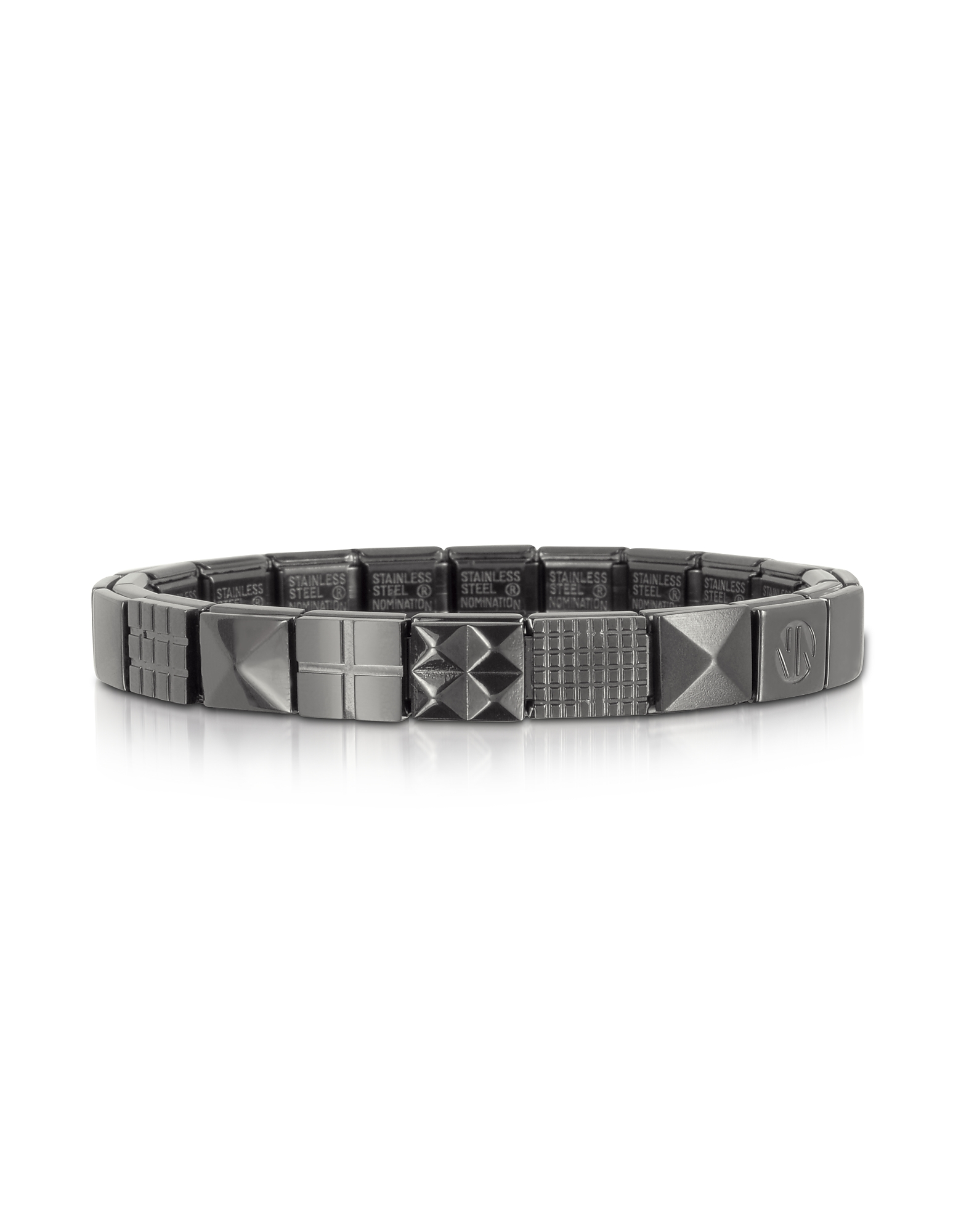 Nomination Men's Bracelets, Steel Ikons Pyramid and Mesh Brushed Stainless Steel Bracelet
