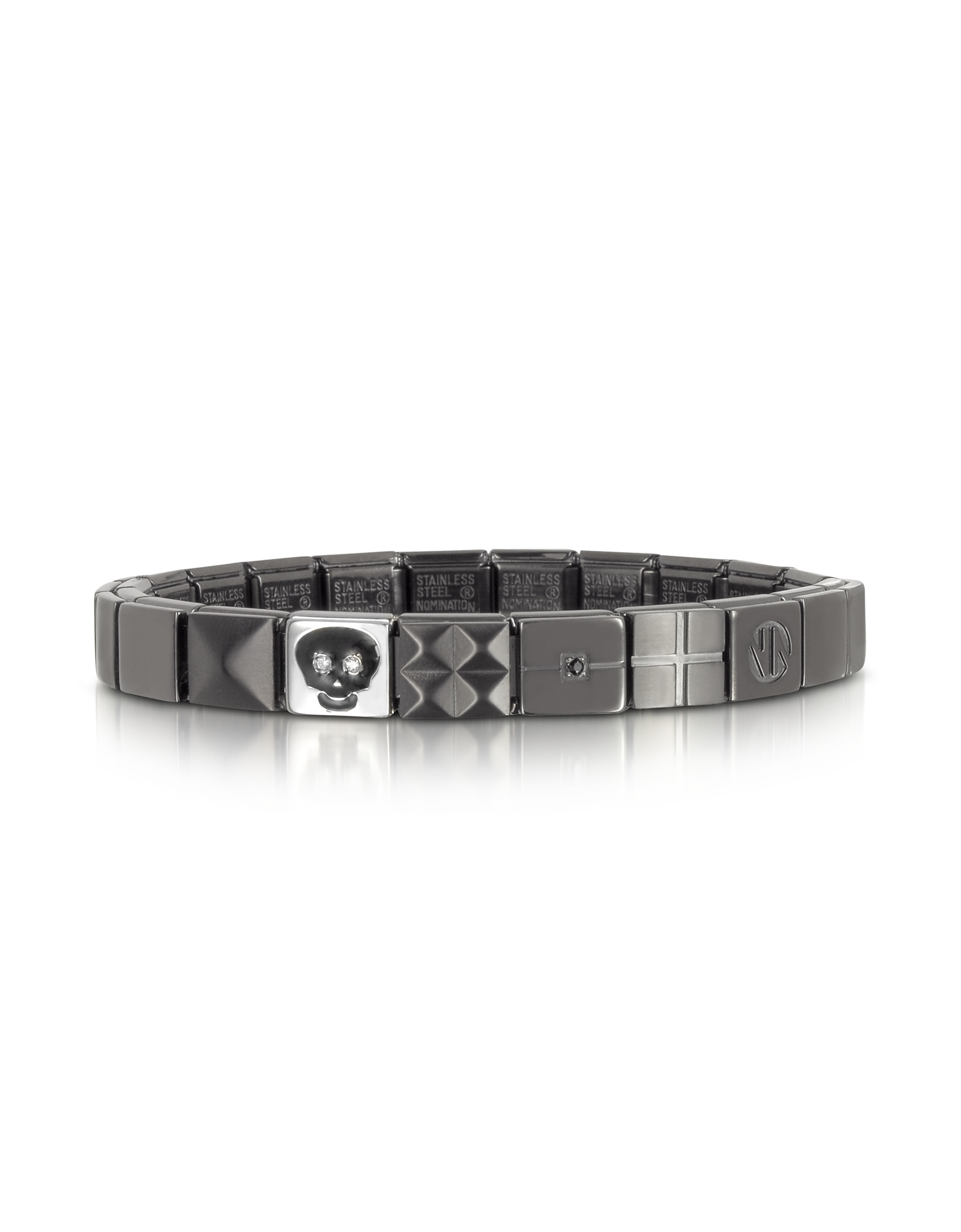 Steel Ikons Skull Brushed Stainless Steel Bracelet