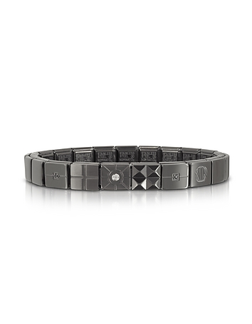 Nomination - Steel Ikons Brushed Stainless Steel Bracelet w/White Cubic Zirconia