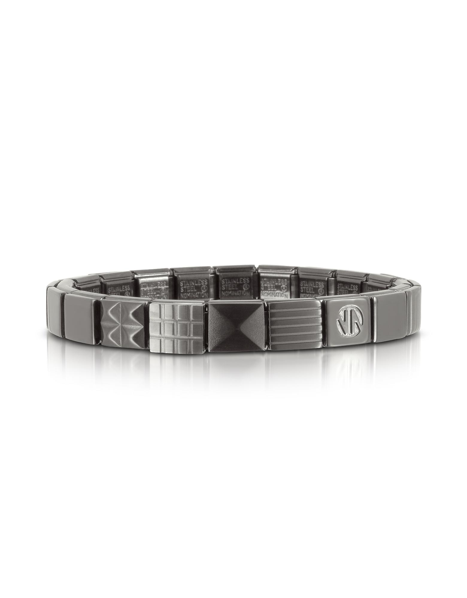 Nomination Men's Bracelets, Steel Ikons Geometric Brushed Stainless Steel Bracelet