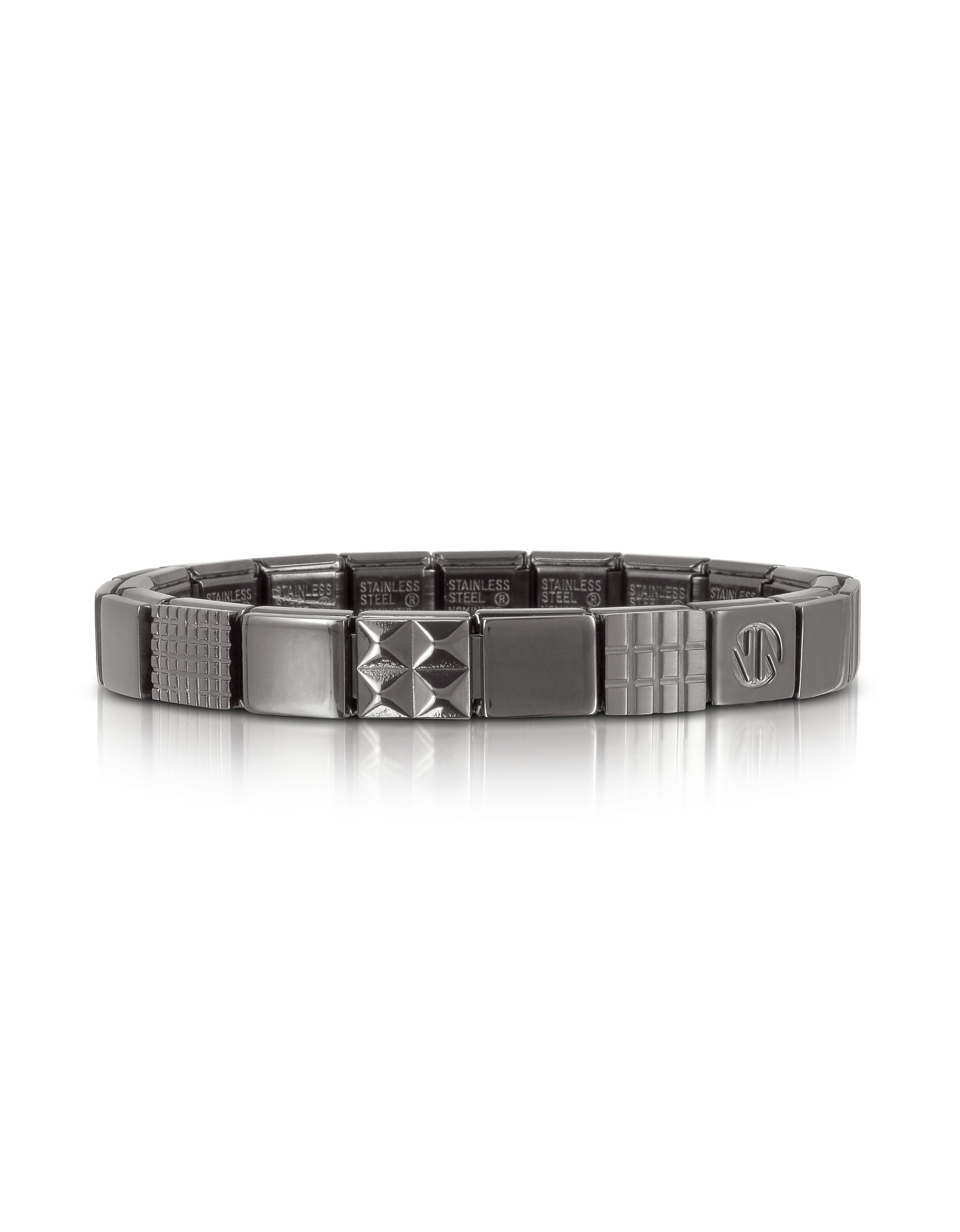 Nomination Men's Bracelets, Steel Ikons Geometric Brushed Stainless Steel Bracelet