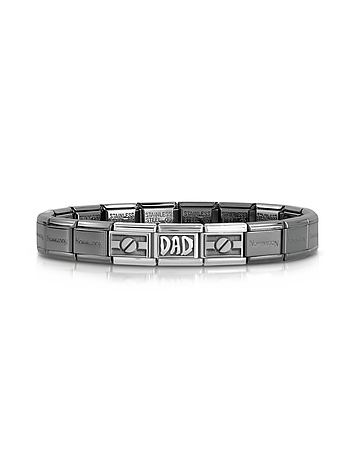 Nomination - Classic Dad Composable Stainless Steel and Sterling Silver Men's Bracelet