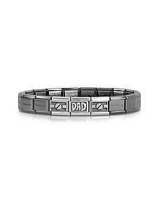 Classic Dad Composable Stainless Steel and Sterling Silver Men's Bracelet - Nomination