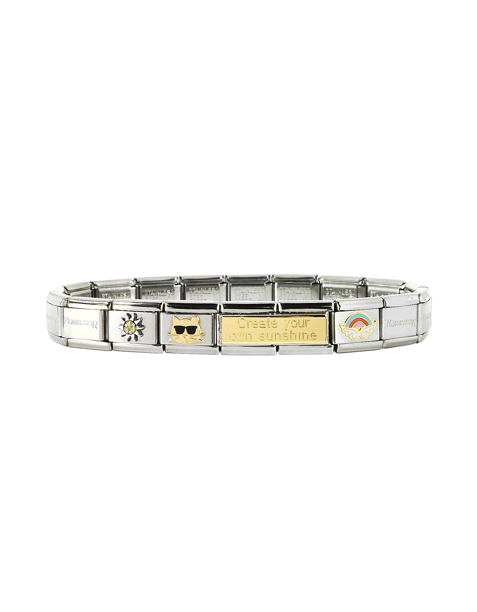 NOMINATION | Nomination Designer Bracelets, Create Your Sunshine Sterling Silver & Stainless Steel Bracelet | Goxip