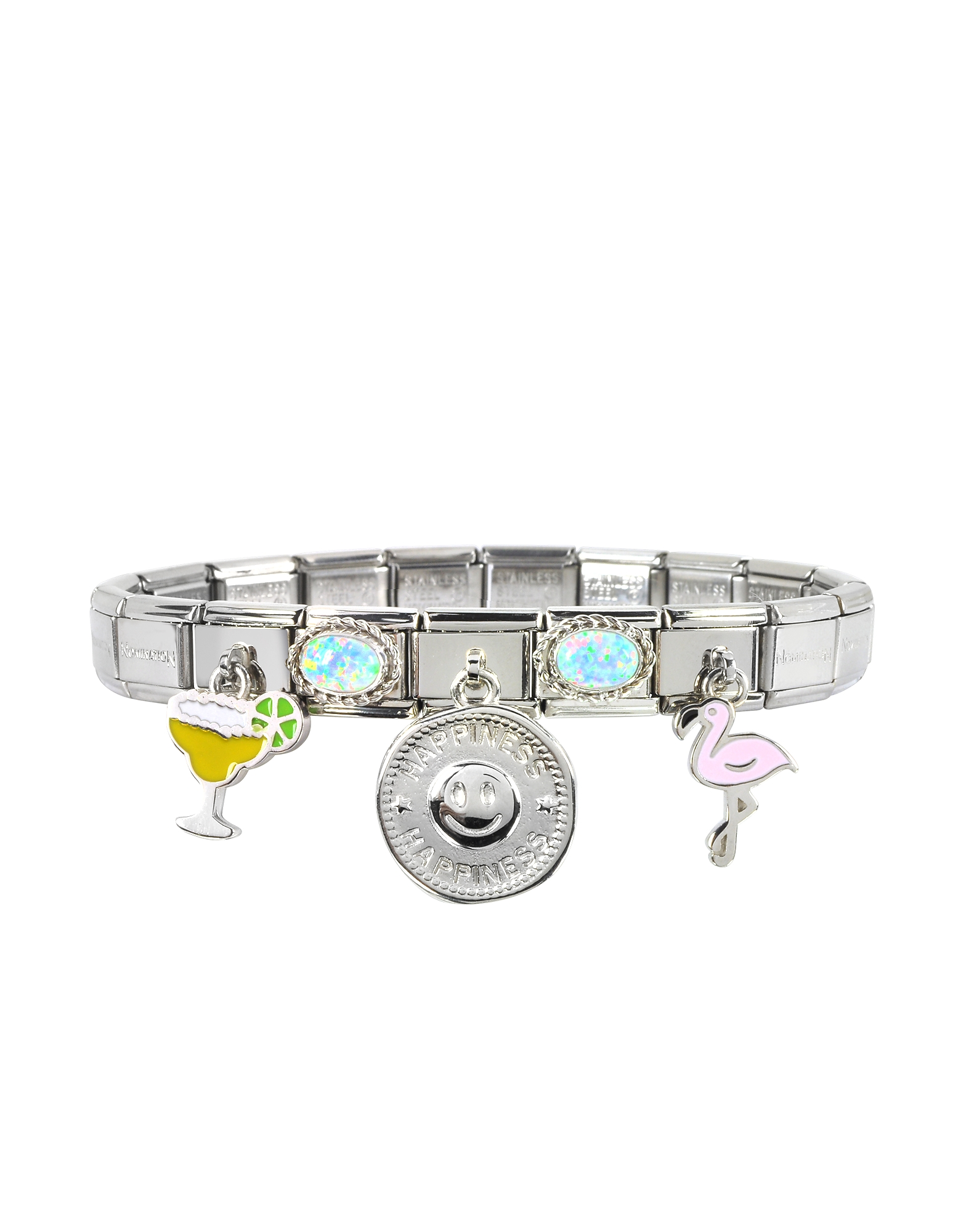 Nomination  Bracelets Happiness Sterling Silver & Stainless Steel Bracelet