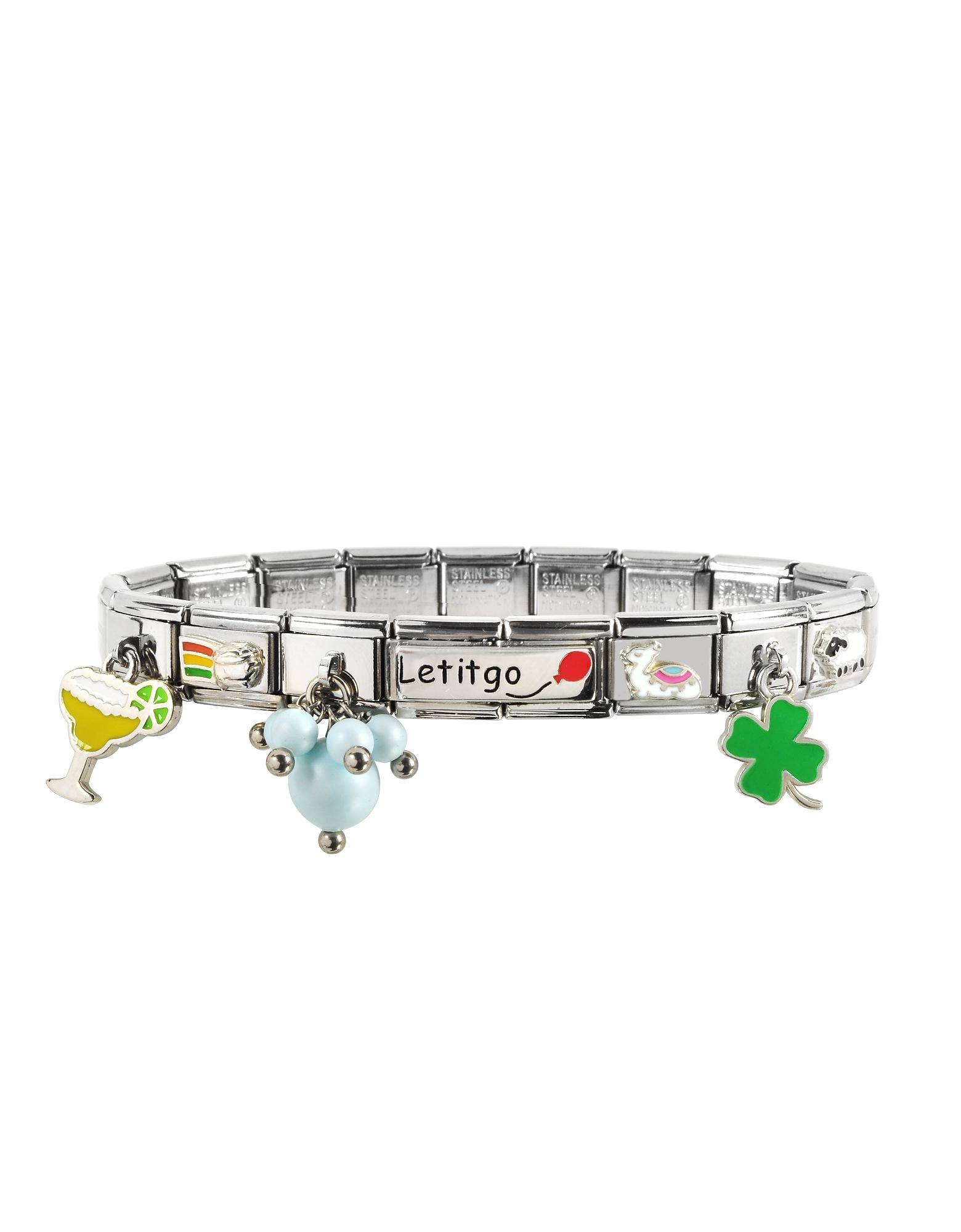 Nomination  Bracelets Let it Go Sterling Silver & Stainless Steel Bracelet