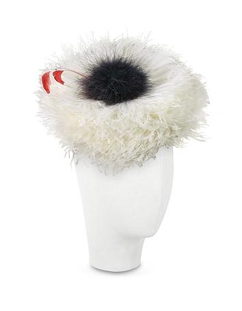 Abigail - Ivory Ostrich Feather Headdress