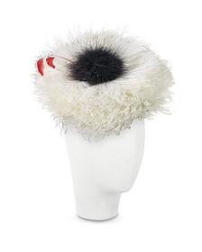 Abigail - Ivory Ostrich Feather Headdress - Nana'