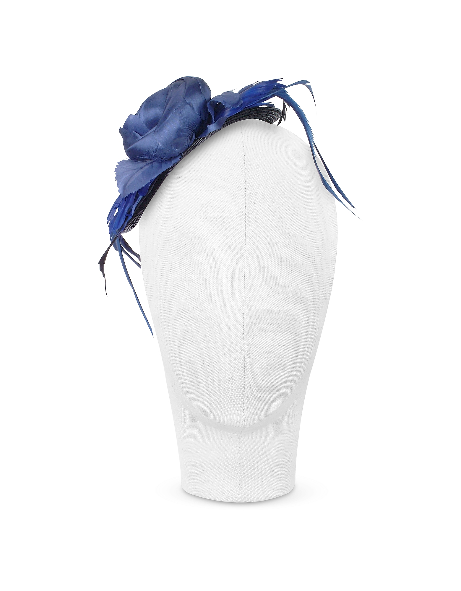 Alba - Night Blue Flower Feather Hat Disc от Forzieri.com INT