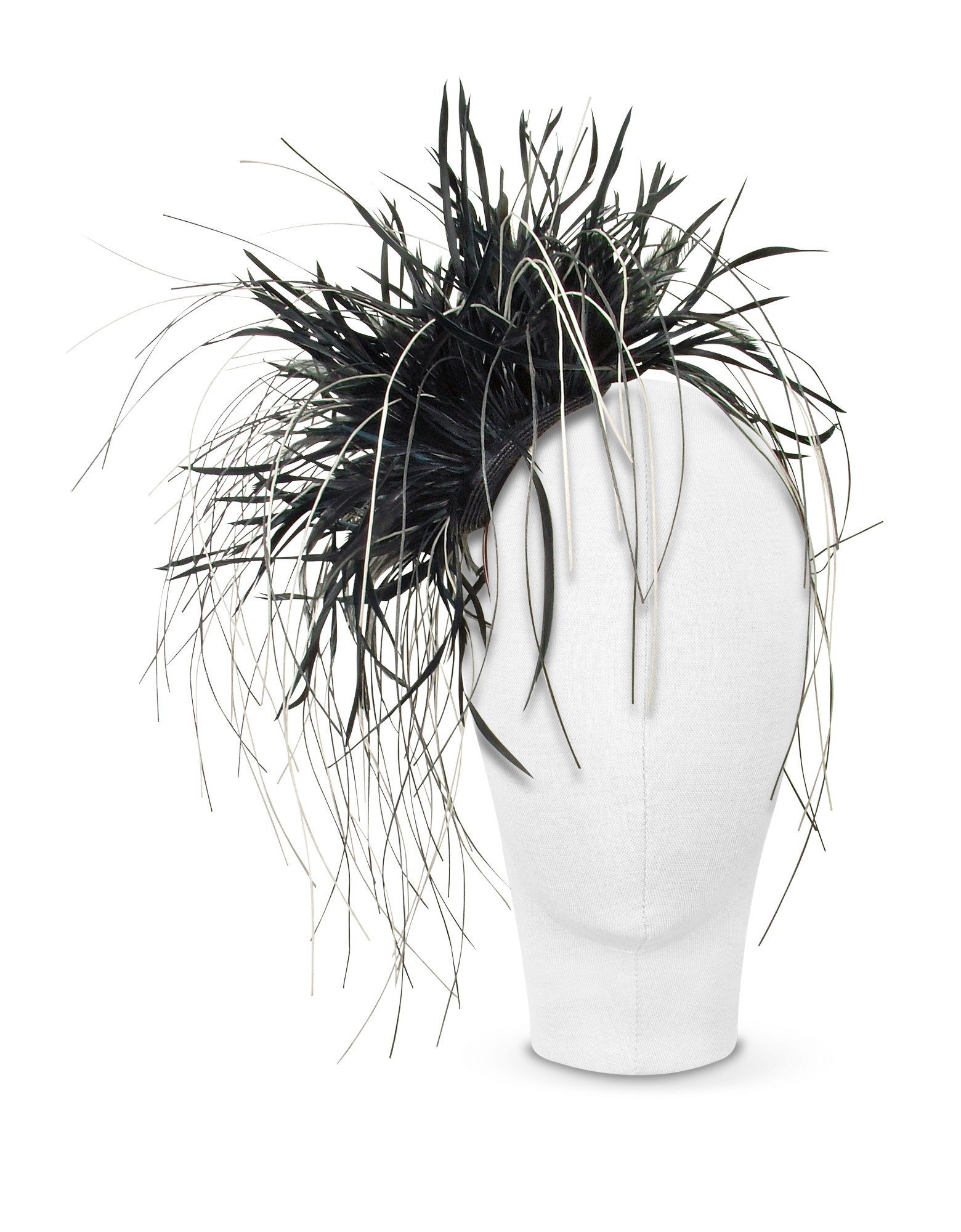 Image of Alicia - Black Feather Headdress