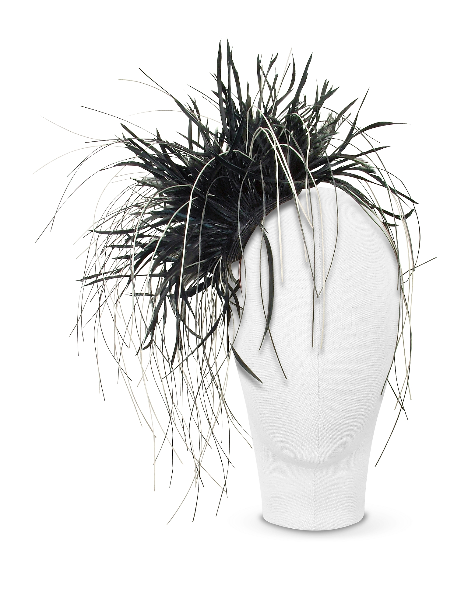 Alicia - Black Feather Headdress от Forzieri.com INT