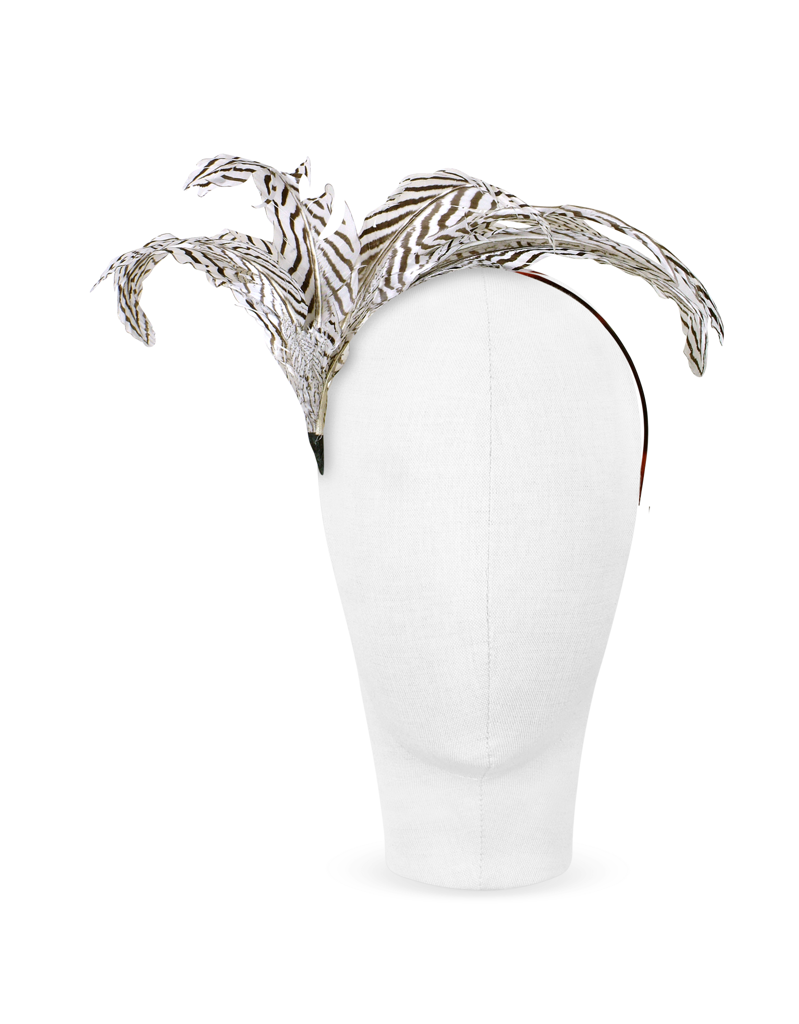 Image of Beverly - Black and White Feather Flower Headband