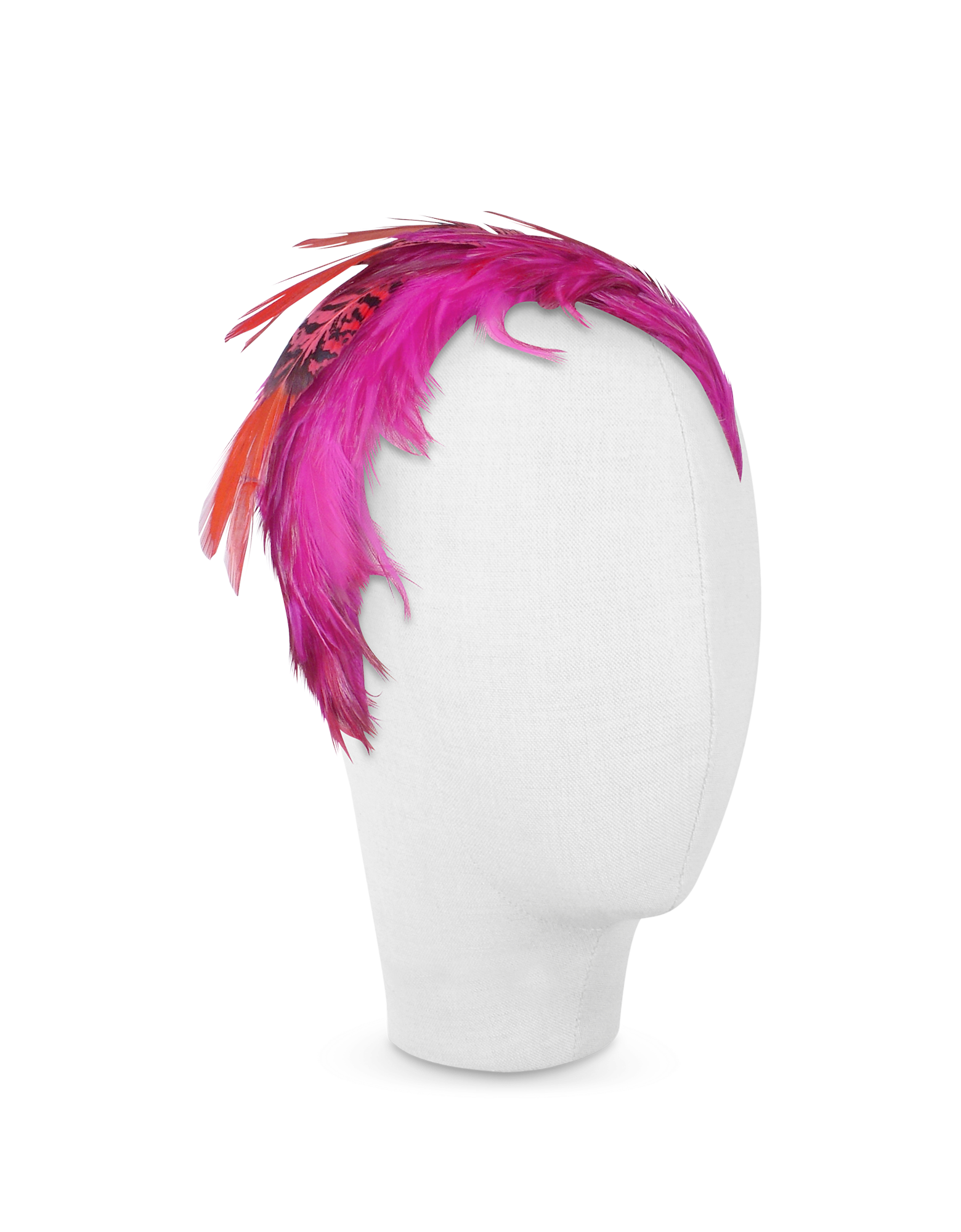 Image of Bettina - Fuchsia Feather Headband