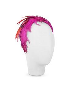 Bettina - Fuchsia Feather Headband - Nana'