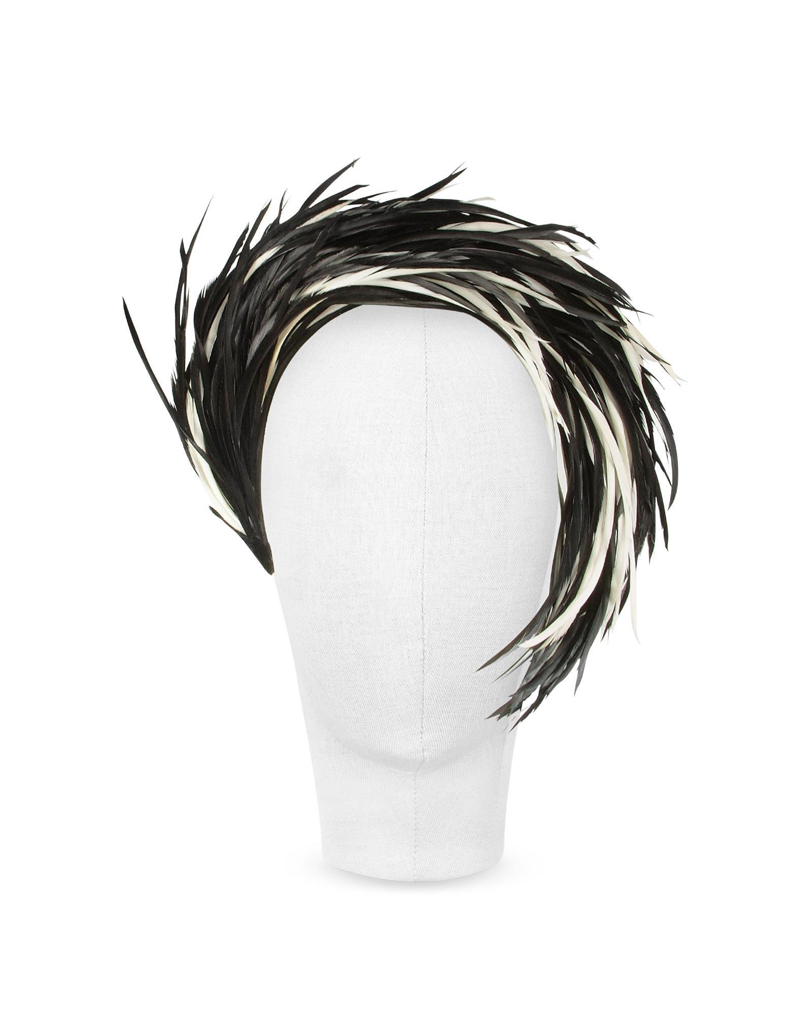 Image of Aurora - Black and White Feather Headband