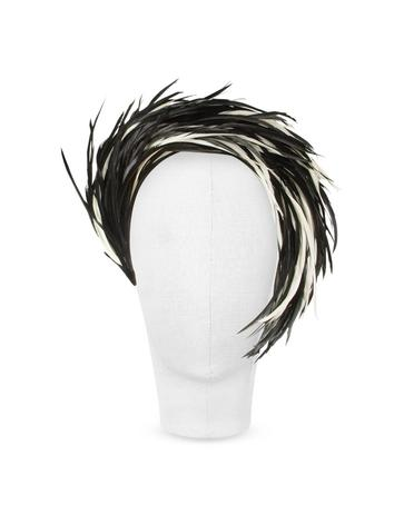 Lux-ID 211720 Aurora - Black and White Feather Headband