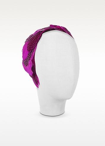 Antonella - Fuchsia Polkadot Feather Headband - Nana'