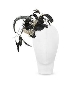 Cilla - Black and White Flower Comb  - Nana'
