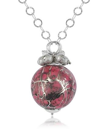 Naoto - Alchimia - Sterling Silver Fuchsia Pendant Necklace
