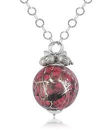 Alchimia - Sterling Silver Fuchsia Pendant Necklace - Naoto