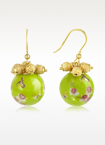 Alchimia - Round Gold Foil Drop Earrings - Naoto
