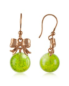 Green Drop Earrings - Naoto