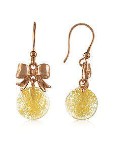 Yellow Round Drop Earrings - Naoto