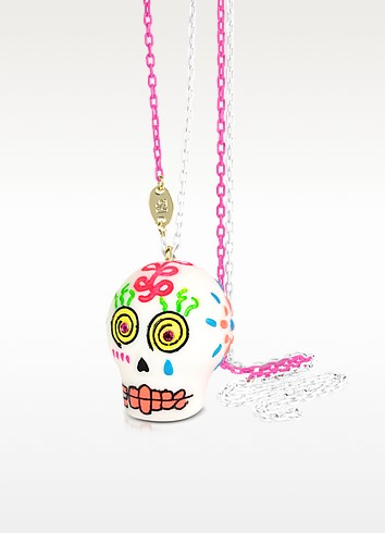 Sugar Skull Long Necklace - N2