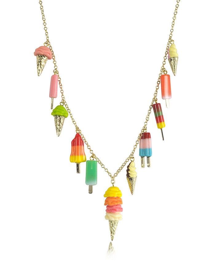 Ice Cream Charms Long Necklace - N2