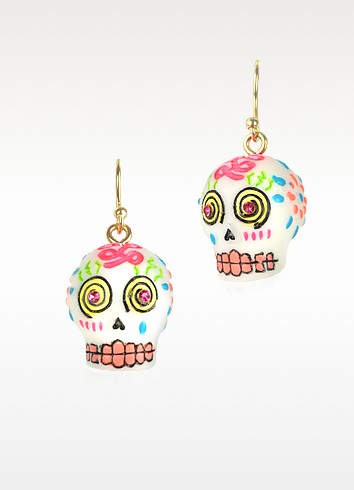 Sugar Skull Drop Earrings - N2