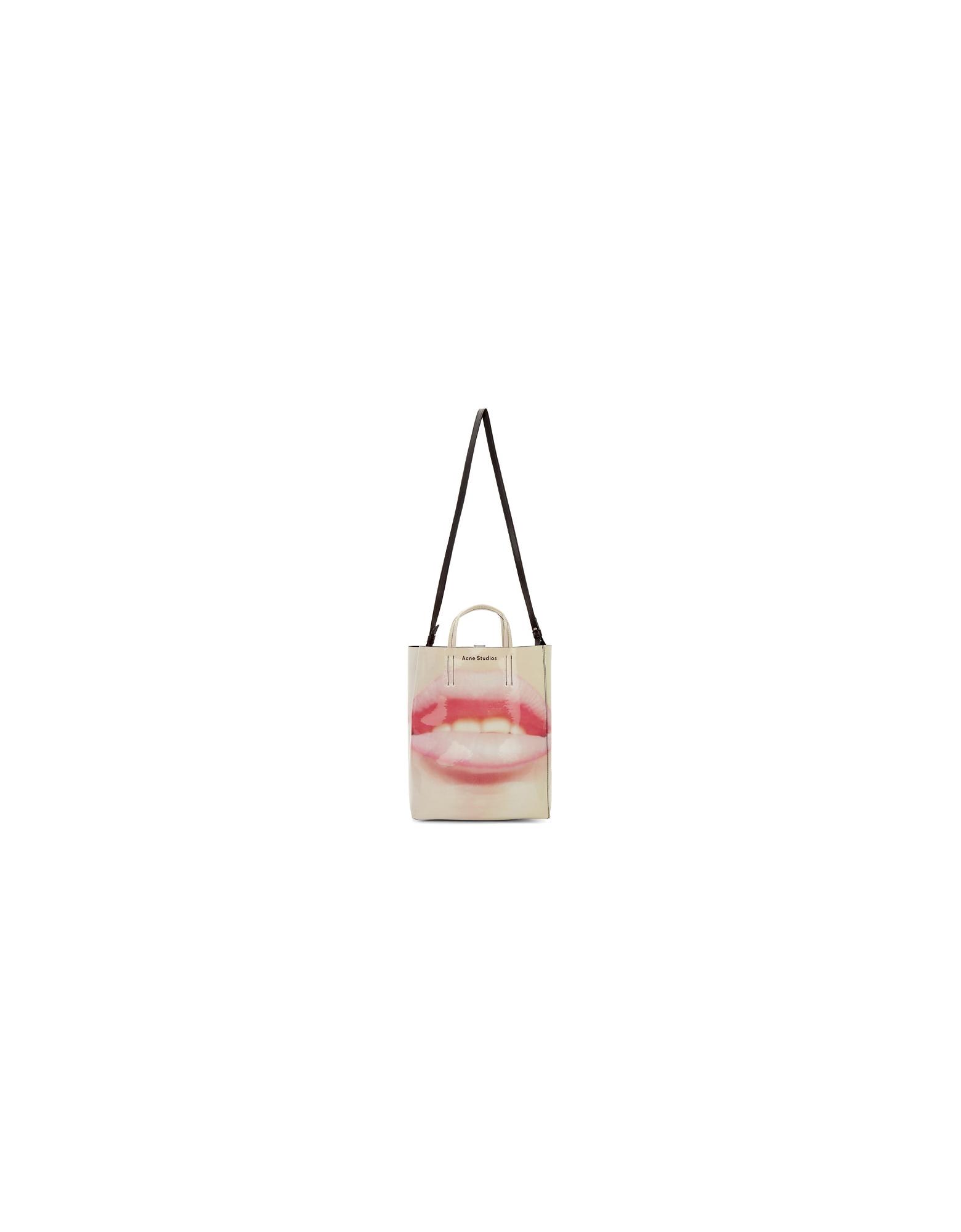 Acne Studios Designer Handbags, Pink Baker AP Tote
