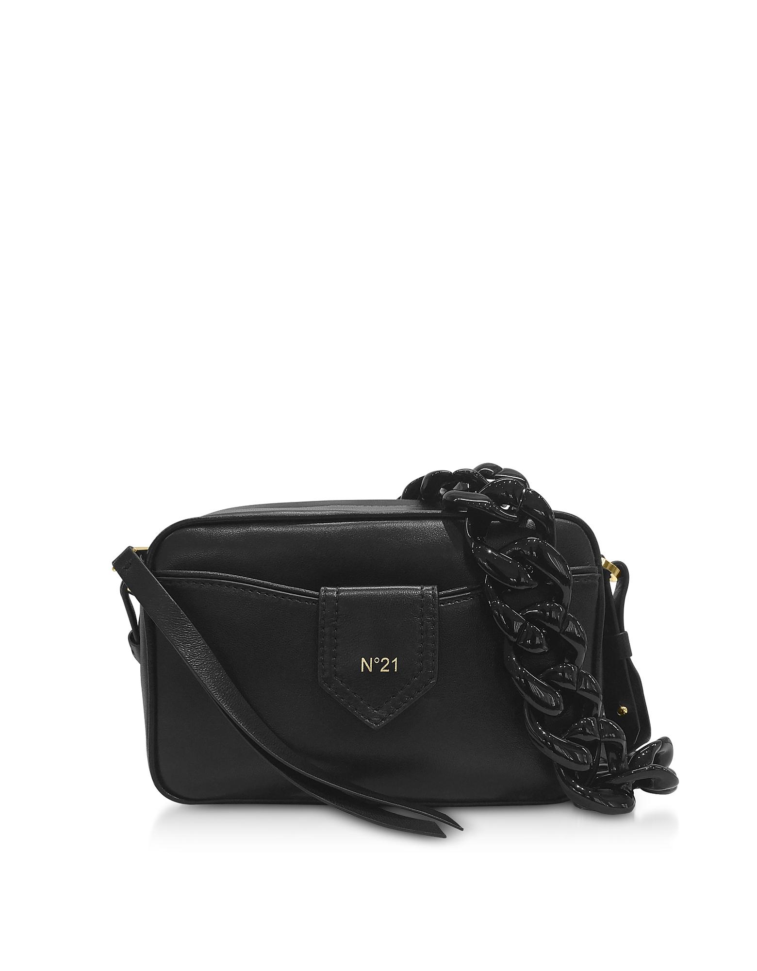 N°21 Handbags, Black Leather Camera Bag