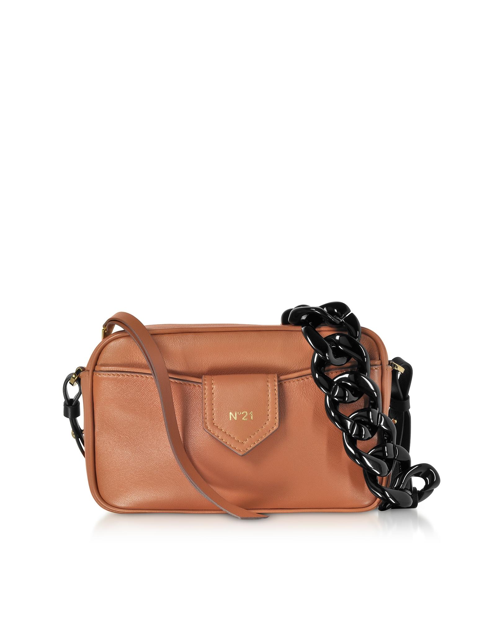 Caramel Nappa Leather Camera Bag