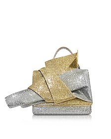 Silver and Gold Glitter Crossbody Bag w/Iconic Bow On Front - N°21