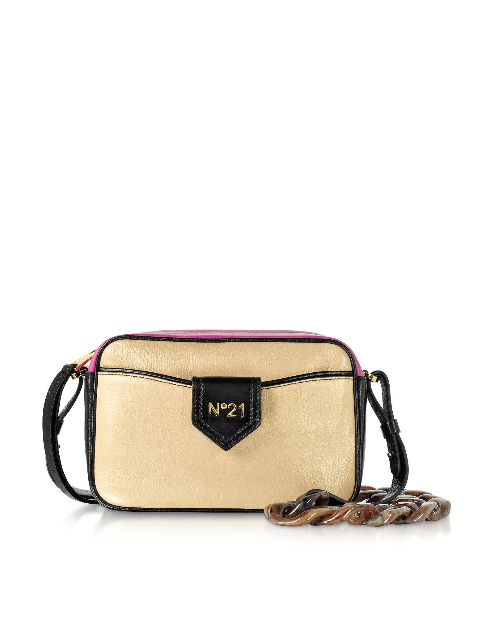 Phard, Black and Fuchsia Leather Camera Bag