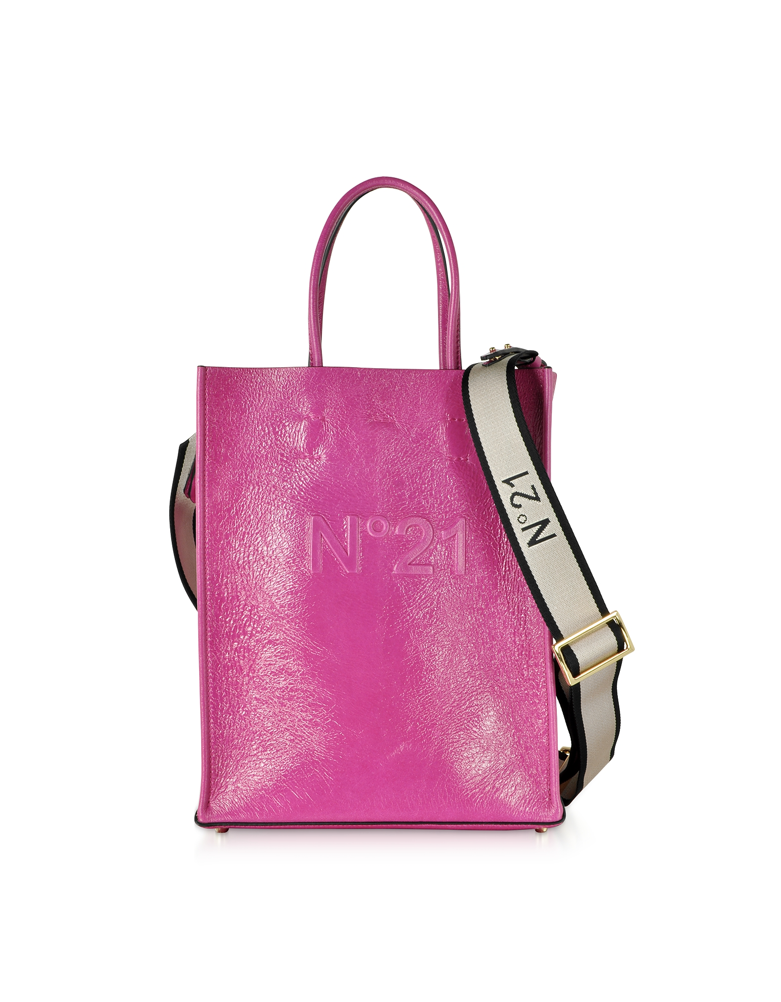 Small Fuchsia Shopping Bag