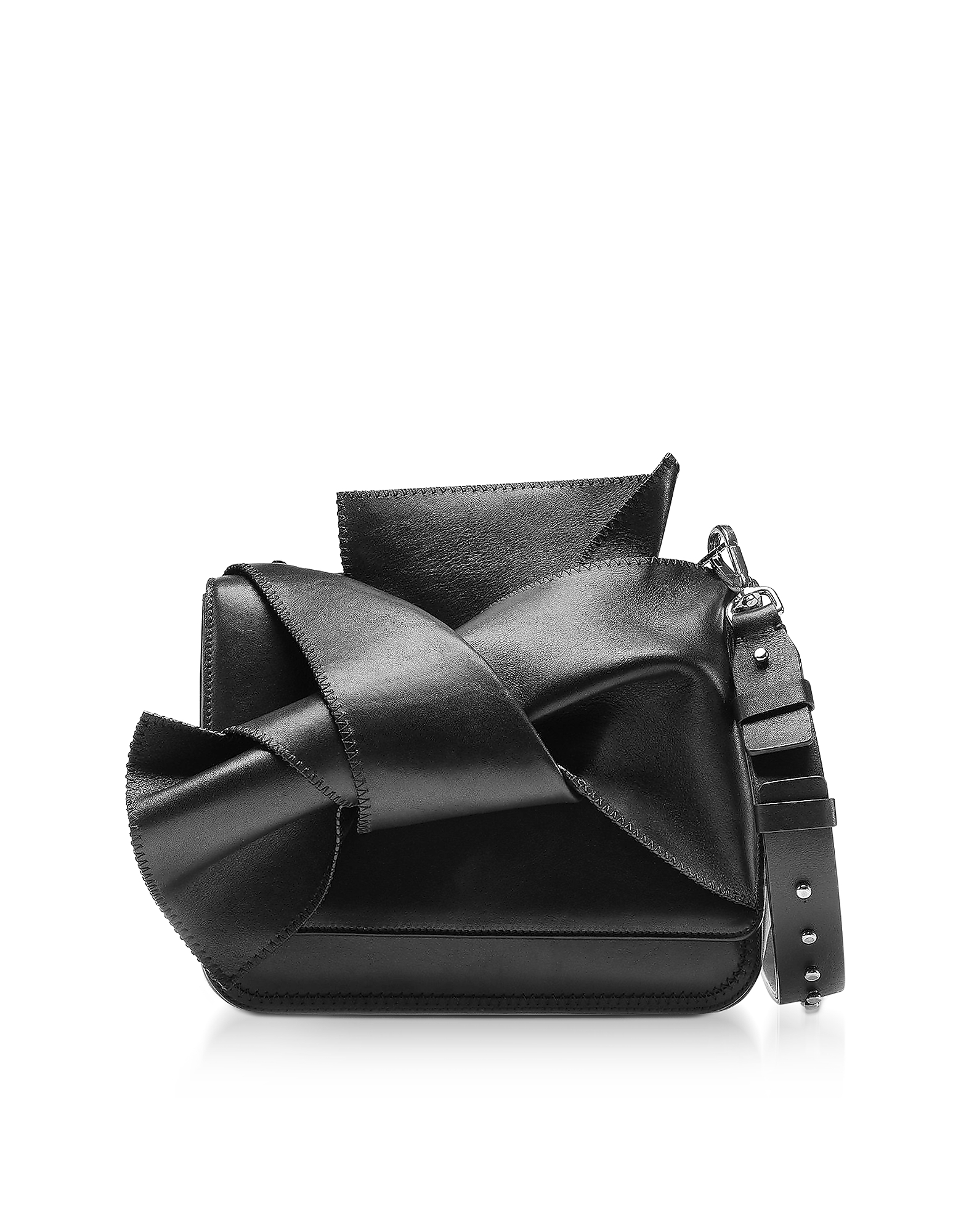 N°21 Handbags, Small Black Leather Bow Shoulder Bag