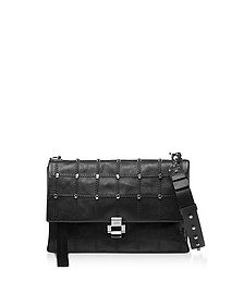 Studded Leather Flap Top Shoulder Bag - N°21
