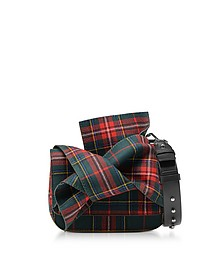 Tartan Fabric Bow Mini Shoulder Bag - N°21